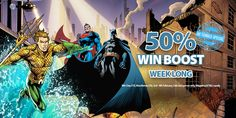 Each day this week #play on any of our DC Comics games and you could get a boost on top! #Games #Casino #Win