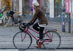 Perfect cold weather bike riding outfit.