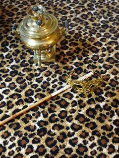 Axminster carpet stock range Leopard - Cheetah print design 80% wool and 20% nylon