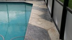 Pool Deck Resurfacing & Concrete Landscape Curbing in Cape Coral & Fort Myers Florida.  See more at http://msdcurbing.com/decorative-concrete-cape-coral-fort-myers-fl.html