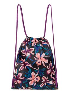 roxy, Light As A Feather - Mochila con cordones, TRUE BLACK MAUI LIGHTS (kvj8)
