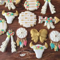 A boho Southwestern shower Cute Cookies, Cupcake Cookies, Sugar Cookies, Cupcakes, Sugar Cookie Frosting, Royal Icing Cookies, Tribal Baby Shower, Baby Shower Cookies, Baby Cookies