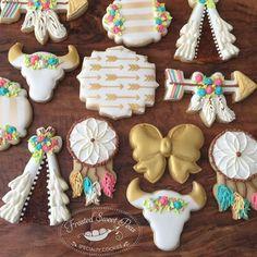 Baby Boho Skull & Dreamcatcher Cookies