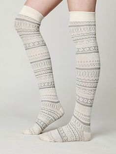 tall socks! LOVE THESE, I want basically any color, but dont get me crazy rainbow striped or anything <3