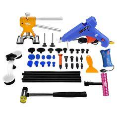 Ferramentas de PDR Paintless Dent Repair Tools Reparação de Danos Causados Por Granizo Carro ferramenta Kit de Bastões de Cola Hot Melt Pistola de Cola Extrator Tabs Ferramentas