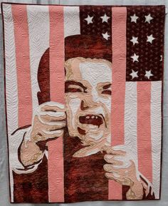 """Audrey Bernier - """"American Scream"""" a QuiltCon 2020 Quilt Scream, Mary Kay, Blog, Quilts, American, War, People, Comforters, Quilt Sets"""