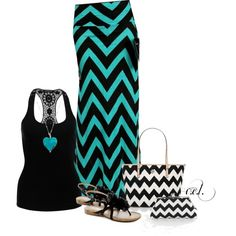 """Chevron Maxi..."" by sweetlikecandycane on Polyvore"