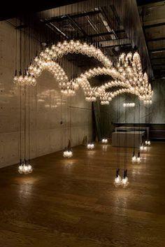Ayako Maruta's stunning light installation at the Diesel Denim Gallery in Aoyama, Tokyo.