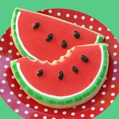 How to make watermelon cookies with out buying another cookie cutter.