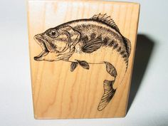 PSX G1458 Large Mouth Bass Fishing by cookingpinkpanther on Etsy, $12.00