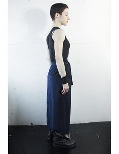 Dark blue long skirt