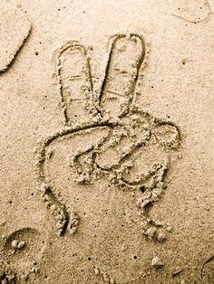 peace + the beach = paradise