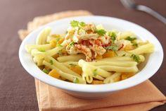 Recette de Casarecce potiron et écrevisses, Une recette appétissante, dans laquelle les saveurs franches et délicates se marient harmonieusement en donnant vie à un plat très tentant.