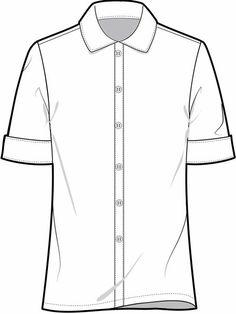 The Next Generation of Trend Forecasting Clothing Templates, Mens Shirt Pattern, Shirt Sketch, Flat Sketches, Uniform Shirts, Student Fashion, Fashion Design Sketches, Fashion Outfits, Men Fashion