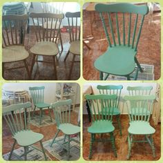 Chairs with Pentart dekor paint soft
