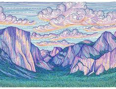 Beautiful mountain art