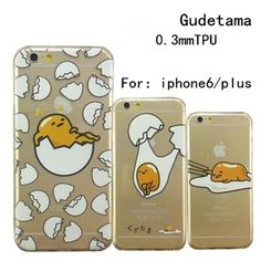 Cute Japanese Catoon Gudetama Egg Clear Case Back Cover For iPhone 5/5s/6/6 plus in Cases, Covers & Skins | eBay