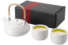 Set de té japonés. Incluye una tetera y 2 tazas de cerámica. www.tusregalosdeempresa.com