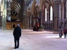 The majestic space of Lincoln Cathedral.