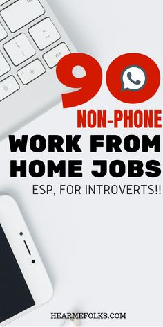 Work from home jobs: 90 non-phone work from home jobs you can apply today to make money online #workfromhome #onlinejobs #workathome #athomejobs #legitimateworkfromhomejobs #stayathomemomjobs