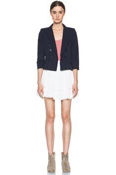 ETOILE ISABEL MARANT White Gabriel Cotton Skirt