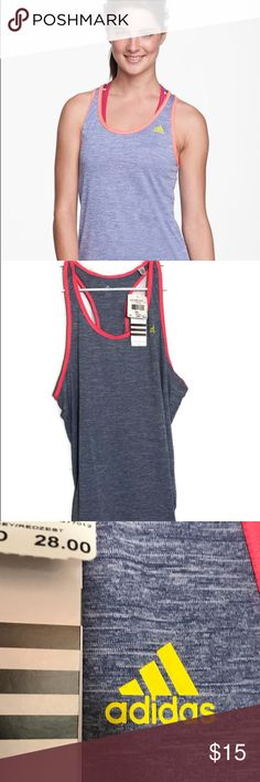 """NWT - Adidas Baby Bro Tank Size XL  -Scoop neck - Sleeveless - Racerback - Contrast color trim - Climalite technology - Approx. 27"""" length - Imported adidas Tops Tank Tops"""