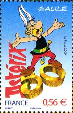 Literary Stamps: Goscinny, René (1926 - 1977)