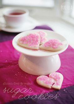 Pure Ella | www.pureella.com |Heart Shaped Sugar Cookies : gluten-free and vegan #glutenfree #vegan #dairyfree #eggfree #allergenfriendly #nutfree