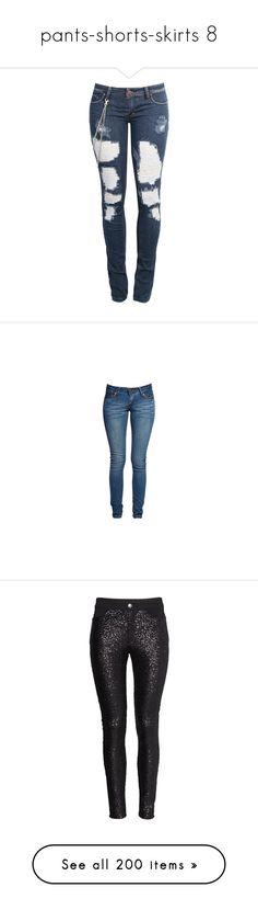 """pants-shorts-skirts 8"" by harlie-timmons ❤ liked on Polyvore featuring jeans, pants, bottoms, pantalones, blue jeans, calças, skinny jeans, skinny fit denim jeans, cut skinny jeans and blue skinny jeans"