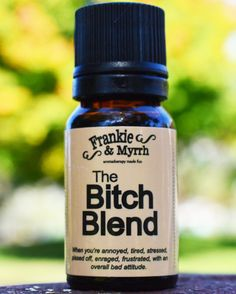 An essential oil blend for PMS irritability relaxation