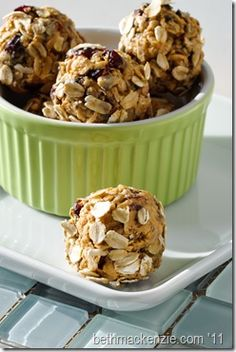 Energy Balls, I used the same recipe but substituted almonds, flax seed, and chocolate chips and it was delicious