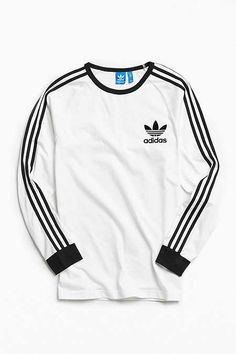 Shop adidas California Long Sleeve Tee at Urban Outfitters today. Addidas Shirts, Adidas Hoodie, Mode Adidas, Adidas Men, Trendy Outfits, Cool Outfits, Fashion Outfits, Men's Fashion, Ellesse