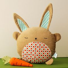 Basil Bunny Softie by retromama on Etsy