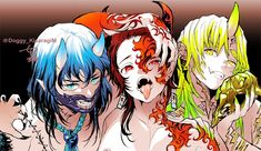 Inosuke, Tanjirou and Zenitsu from Demon Slayer Anime Angel, Anime Demon, Manga Anime, Anime Art, Demon Slayer, Slayer Anime, Beyblade Characters, Anime Characters, Anime Couples Drawings