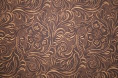 COUNTRY WESTERN COWBOY TOOLED LEATHER LOOK FABRIC from MODA