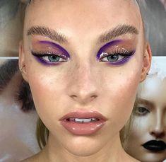 Purple make up Makeup Goals, Makeup Inspo, Makeup Art, Beauty Makeup, Eye Makeup, Hair Makeup, Makeup Ideas, Makeup Geek, Glossy Makeup