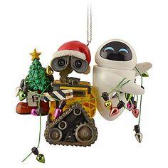 Disney World Wall-E & Eve Christmas Ornament - OMG want SO much! $26 w/shipping