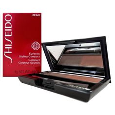 Shiseido Eyebrow Styling Compact for Women, No. BR602 Medium Brown, 0.14 oz. This compact allows you to create and style natural-looking eyebrows that complement your coloring with a beautiful finish that lasts all day. The double-sided applicator allows you to draw sharp lines for a bold look or blend shades for a softer finish. A compact that lets you create the perfect brows.