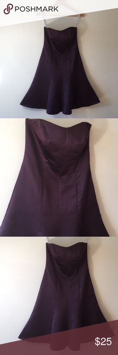 David's Bridal chocolate brown strapless dress 💕 Gorgeous dress!  In excellent condition! David's Bridal Dresses Strapless