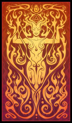 what this image stands for: Fire Spirit: being on fire and following your passion