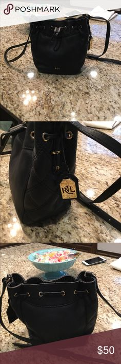 Beautiful Ralph Lauren cross body bag Just like new beautiful black Ralph Lauren cross body bag Ralph Lauren Bags Crossbody Bags