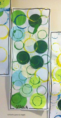 L'année dernière, les enfants (pas si) sages se sont inspirés du travail de Ricki Mountain pour faire des ronds