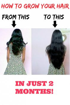 how to grow your hair in 2 months
