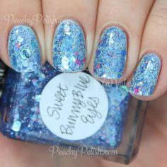 Lynnderella Sweet Bunny Blue Eyes   Peachy Polish