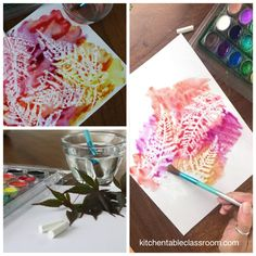 Leaf Rubbing Crayon Resist- Leaf Art for Any Season This simple leaf rubbing project is a new twist on an old favorite. This leaf art takes simple materials and a few minutes to create this bold nature art!