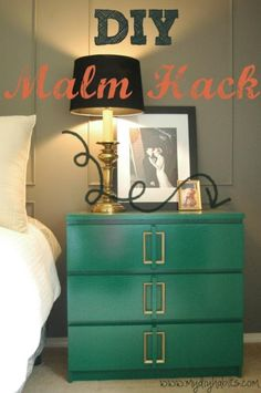 Most awesome ikea Malm dresser hack of all time. Katie from My DIY Habits as featured on houseofhepworths.com