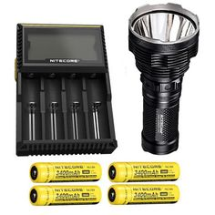 Bundle Acebeam K70 Flashlight XHP35 HI LED 2600Lm w Nitecore D4 Charger  4x NL189 Batteries wFREE Andrew  Amanda Pen ** Visit the image link more details. This is an Amazon Affiliate links.