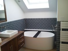 Image result for small bathroom with freestanding tub