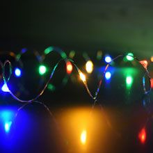 Wire / DIY / Craft / Hanging / String Lights / Multi-Color Starry Fairy Dewdrop String Lights LI-1004-MU Battery Operated Lights, Battery Lights, Led Party Lights, String Lights, Sphere Light, Starry Lights, Amazing Pics, Globe Lights, Paper Lanterns