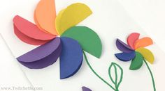 How to make easy rainbow paper flowers for kids - Twitchetts These construction paper rainbow flowers are perfect diy paper flowers for your kids to make! These a fun paper flowers for a kids craft. Summer Crafts For Kids, Spring Crafts, Diy For Kids, Construction Paper Flowers, Construction For Kids, Construction Crafts, Rainbow Paper, Rainbow Crafts, Kids Rainbow